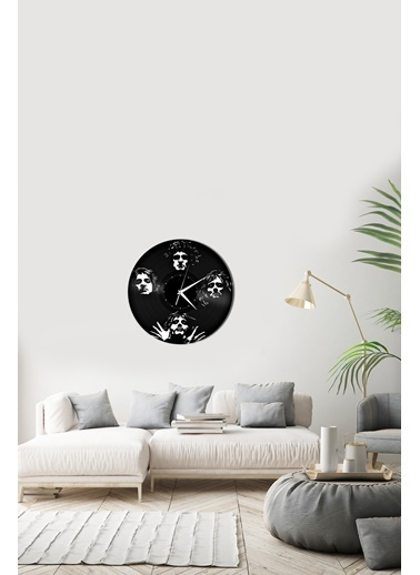 Angemiel Home Queen BandPleksi Duvar Saati Siyah